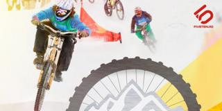 Mountainbike Winter X-Cross: distracție cu bicicletele pe zăpadă