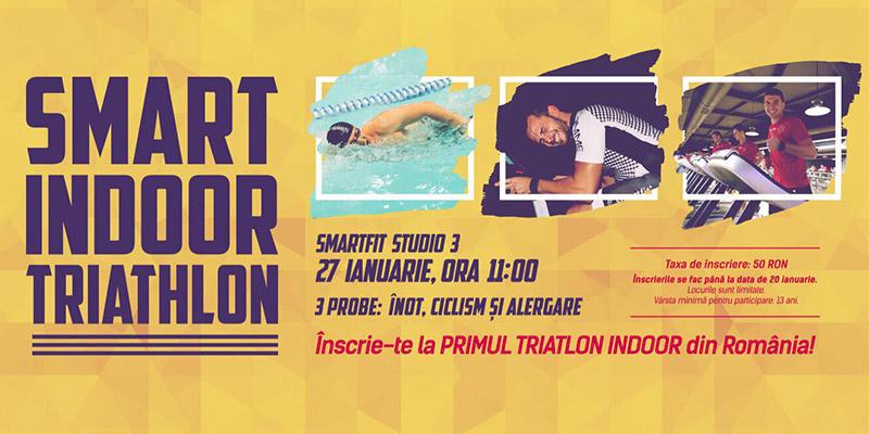 Smart Indoor Triathlon: participă și tu la una dintre cele mai inedite competiții din România
