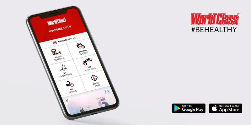 World Class România lansează prima aplicație pentru membri