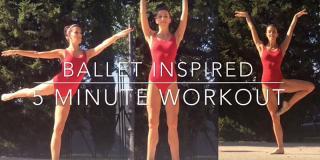 Workout de 5 minute: exerciții inspirate din balet, pentru grupele principale de mușchi