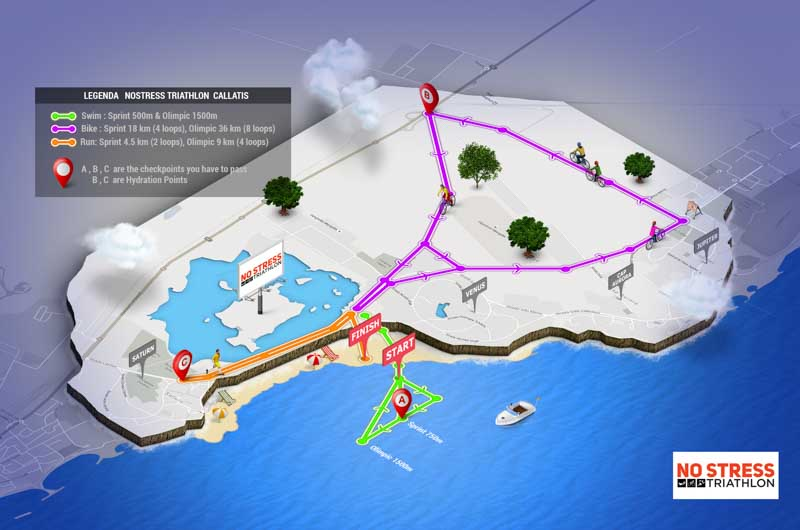 traseu no stress triathlon callatis