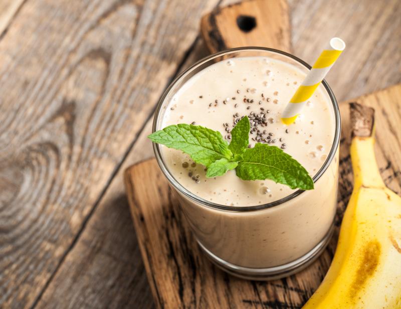Smoothie cu banane și condimente